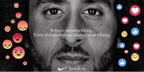 "Photo: A recent case is Nike's decision to feature Colin Kaepernick for the 30th anniversary of the company's famous ""Just Do It"" campaign. The campaign caused in parts feverish debates among consumers and marketers, particularly on social media platforms, but seems to overall pay off for the company."