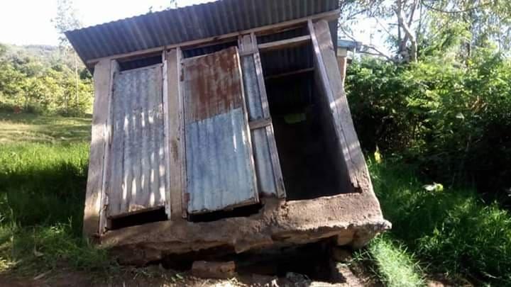 falling pit latrine