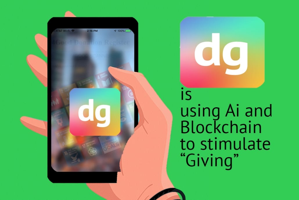 DuGut™App uses Ai (artificial intelligence) and blockchain to stimulate giving